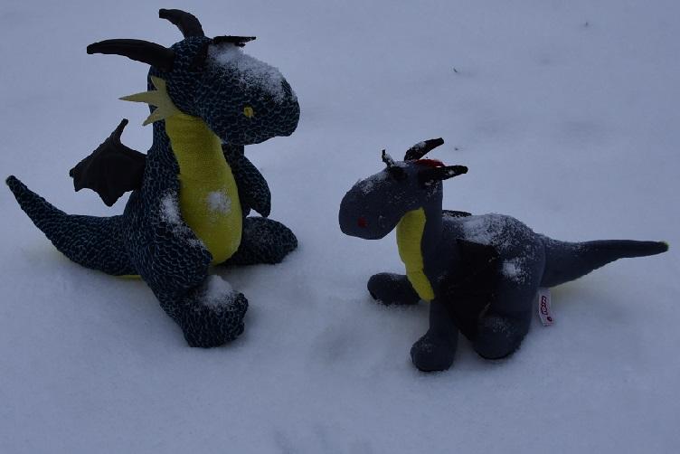 Kiwii und Luna nach dem Toben
