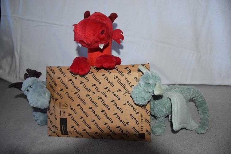 Drachis mit Buchpaket