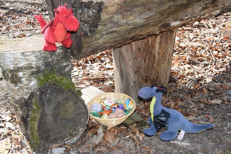 Flämmchen und Luna finden ein Osternest