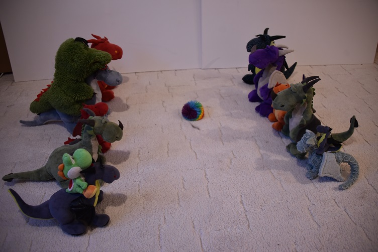 Drachis spielen Flussball