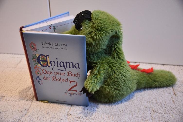 Fauchi liest ein Rätselbuch