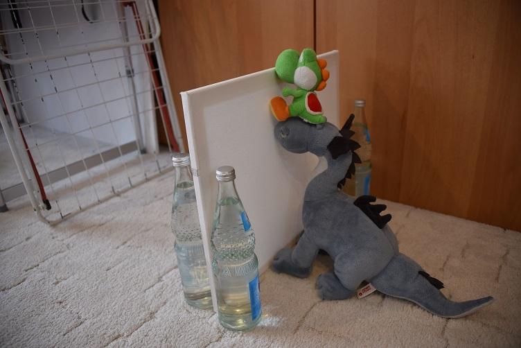 Sirius hilft Yoshi über die Wand