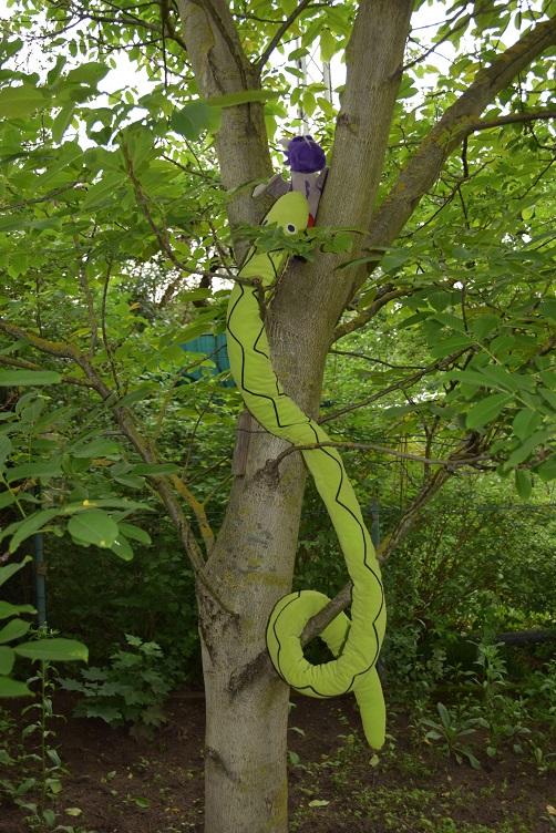 Alphabetty findet Violetta im Nussbaum