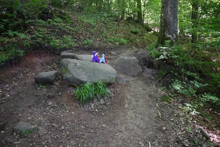 Die Drachen steigen Felsen hoch