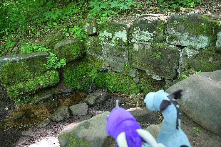 Violetta und Sirius am Maidenbrunnen