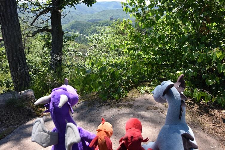 Die Drachen genießen die Aussicht vom Krappenfelsen