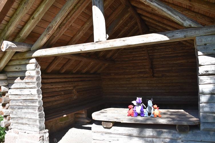 Die Drachen in der Hütte am Col du Litschhof