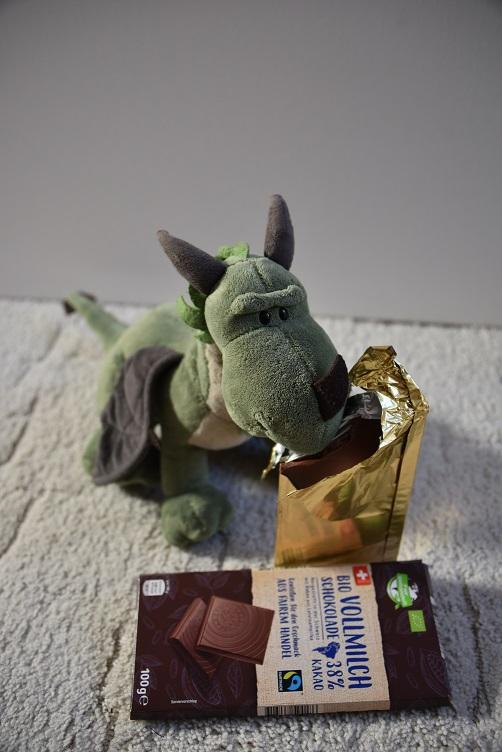 Grünling mit Vollmilchschokolade