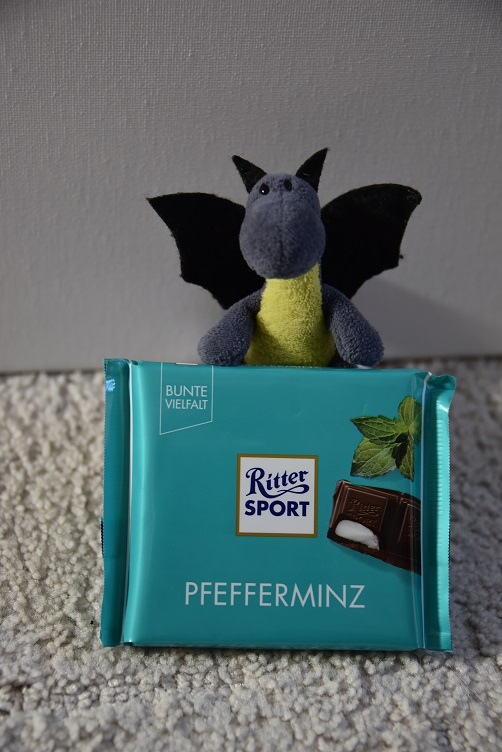 Lina mit Pfefferminzschokolade