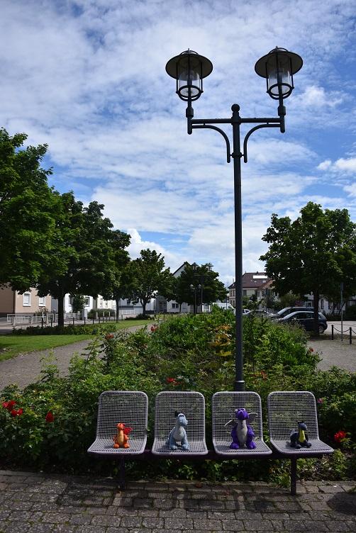 Rast auf dem Rülzheimer Dorfplatz