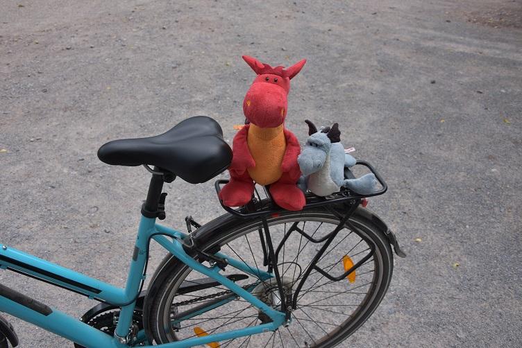 Saphira und Chilli auf dem Fahrrad