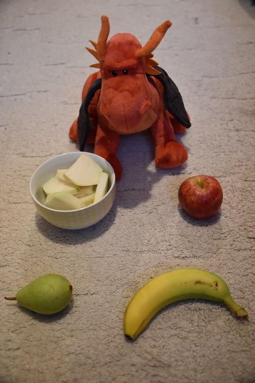 Eldur mit Obst und Gemüse