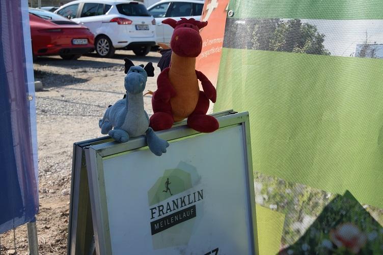 Saphira und Chilli beim Franklin Meilenlauf