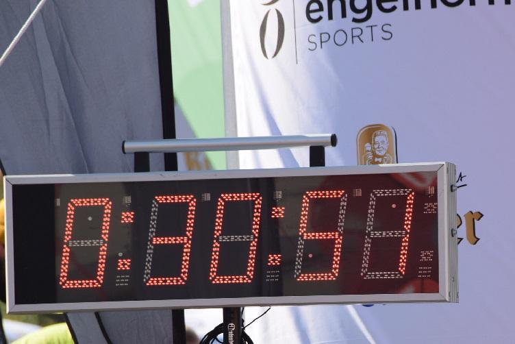 Die Uhr zeigt eine halbe Stunde